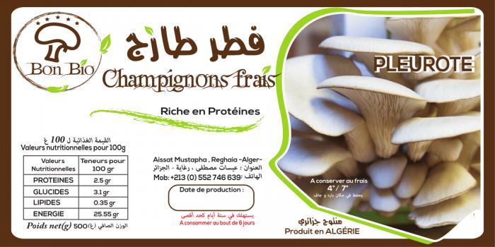 etiquette champignon
