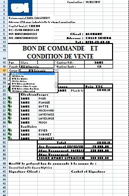Je vais créer votre logiciel en Excel (Bon de commande ...