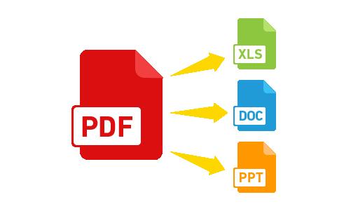 je vais convertir vos fichier pdf en word   excel et